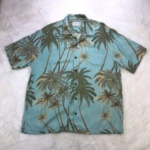 Tommy Bahama 100% Silk Button Up Shirt L